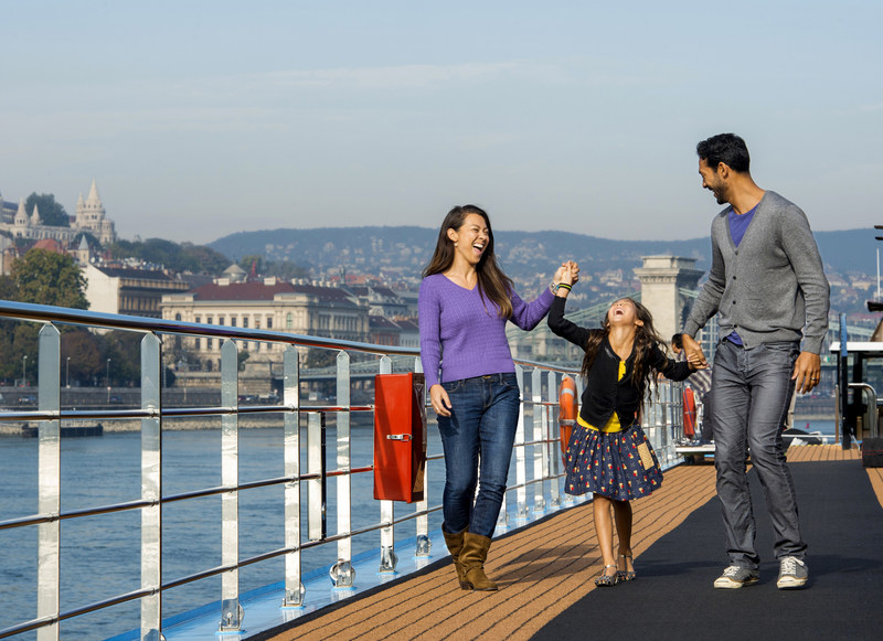 Adventures by Disney river cruise guests sail aboard a river cruise ship custom built by AmaWaterways with families in mind. New family-friendly design elements include specific room configurations, including six sets of connecting staterooms, as well as some rooms and suites that accommodate three- and four-person families, and other unique details that lend themselves to luxury family vacations.