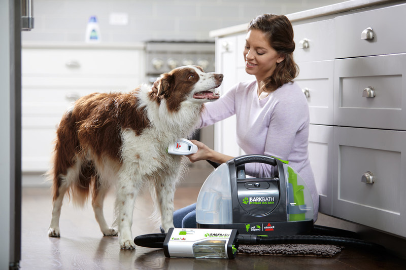 BISSELL BarkBath, a new dog bathing system, now available on Indiegogo.