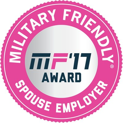 Combined Insurance ranked #5 Military Spouse magazine's 2017 Top 10 List of Military Spouse Friendly Employers (in $500 million to $1 billion category)