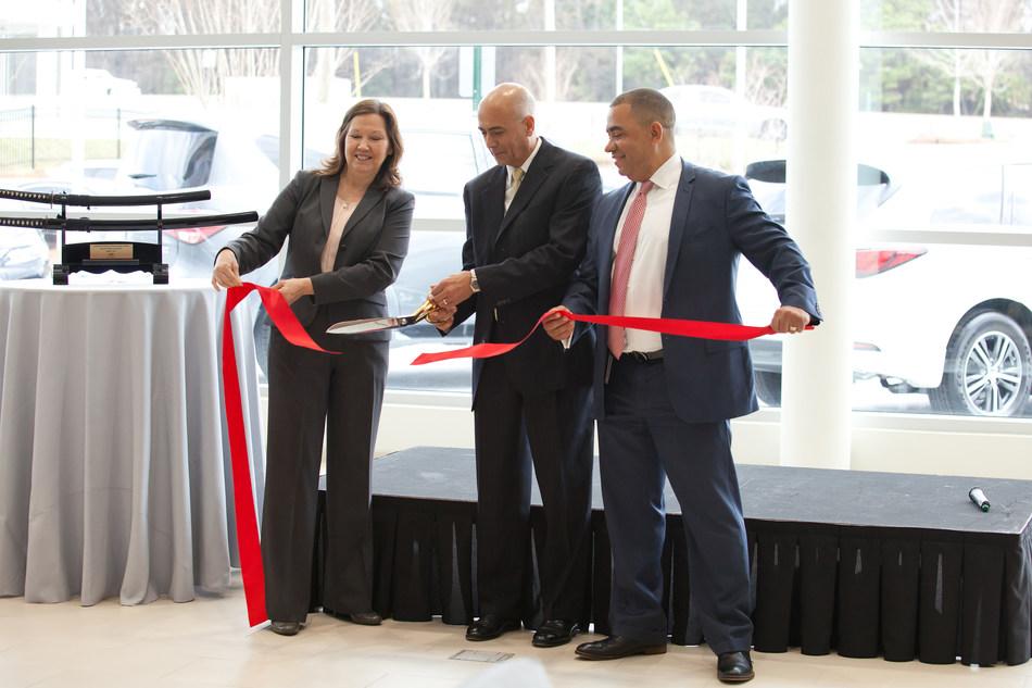 """Mayor Donna Pittman - City of Doraville, Craig Monaghan - President & CEO, Asbury Automotive Group, Ray Jimenez - Regional Vice President, INFINITI South."""