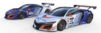 Ryan Eversley, a two-time race winner in 2016, returns to RealTime Racing to drive the #43 Acura NSX GT3, while veteran Peter Kox joins the team to pilot the #93 Acura in 2017. (PRNewsFoto/Acura)