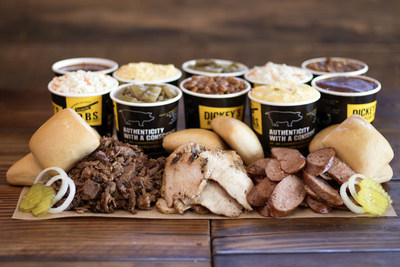 Dickey's Barbecue Pit offers Double Sides with the purchase of any Family Pack for $5 in the month of March.