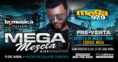 MEGA MEZCLA ALEX SENSATION 2017 (PRNewsFoto/Spanish Broadcasting System)