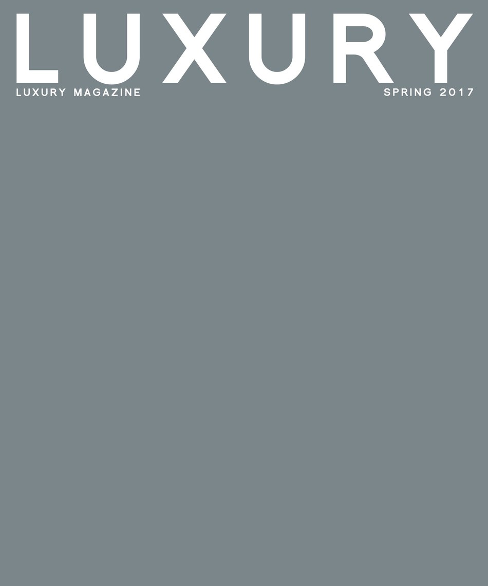 LUXURY MAGAZINE Spring 2017 Issue: Art & Design