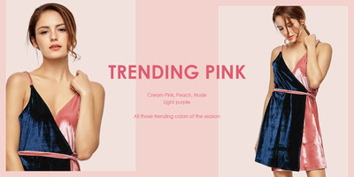 Globalegrow's page for pink on Zaful items from the spring/summer season