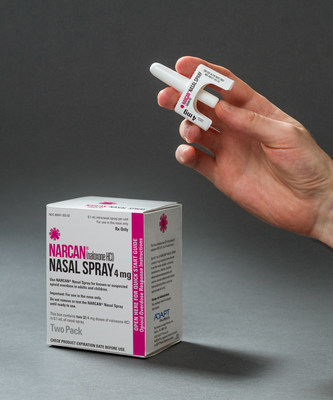 Vaporisateur nasal NARCAN(MC) (chlorhydrate de naloxone) dosé à 4 mg (Groupe CNW/Adapt Pharma)