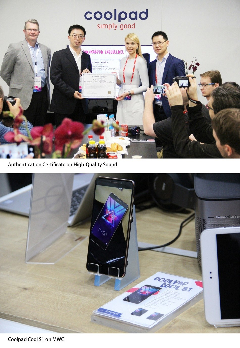 Coolpad Cool S1 at MWC (PRNewsFoto/Coolpad)