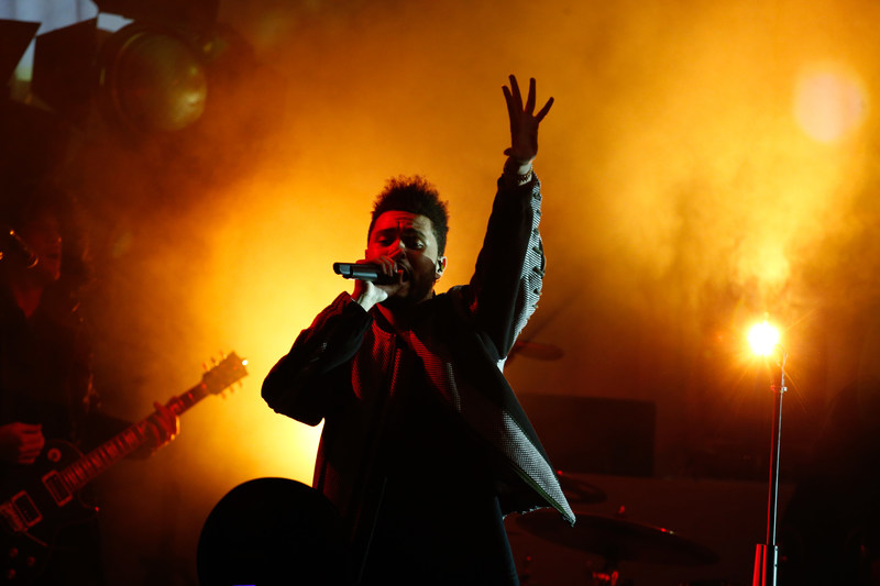The Weeknd performs at the H&M Studio show in Paris.