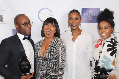 Two-time Oscar Winner, Director Barry Jenkins, Angela Bassett, Issa Rae, and Janelle Monae share a moment of sheer joy and camaraderie at The American Black Film Institute's Oscar Gala