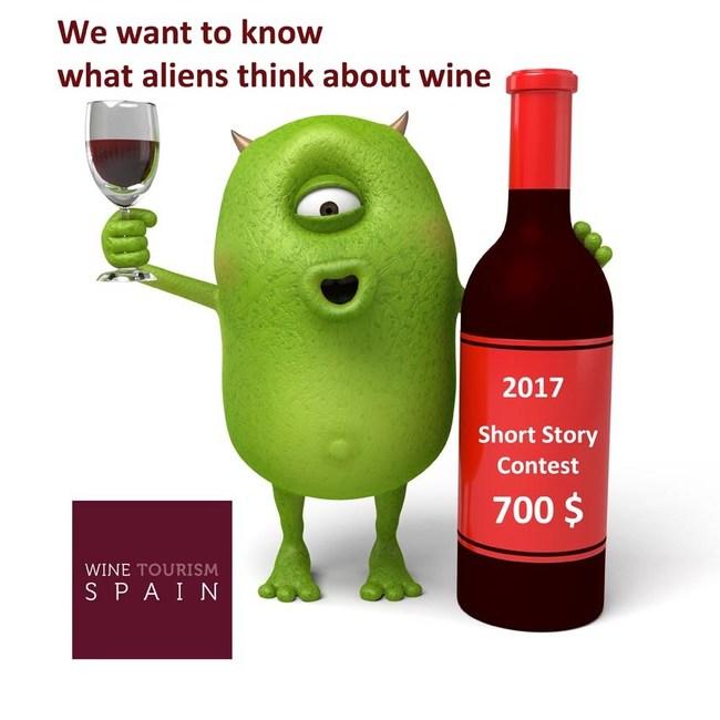 Short story writing contest winetourismspain.com 2017, aliens and wine.