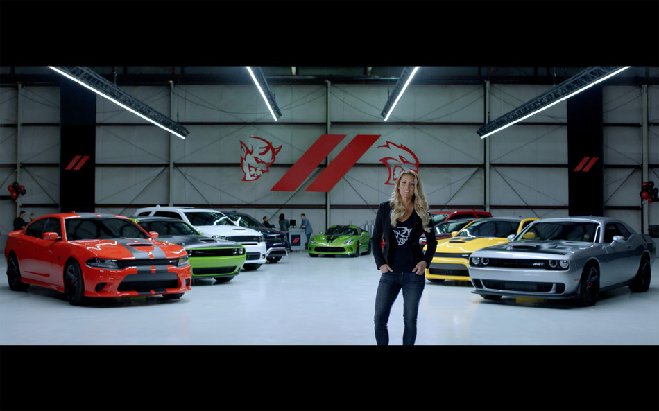 """Dodge has launched """"Muscle Heaven,"""" a new 30-second co-branded TV spot, as part of its promotional partnership with Universal Pictures for The Fate of the Furious, which opens nationwide April 14. The commercial features clips from the movie seamlessly blended with new scenes of Dodge's and SRT's ultimate performance vehicles."""