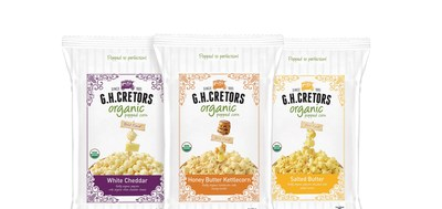G.H. CRETORS(R) POPPED CORN INTRODUCES THREE NEW OBSESSIVELY DELICIOUS(TM) ORGANIC VARIETIES