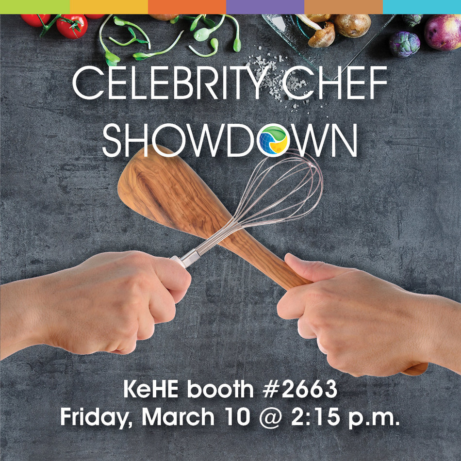 Compassion and competition will be in focus for KeHE at Natural Products Expo West 2017, as two celebrity chefs bring their culinary talents to the table to launch KeHE's new CAREtrade(TM) initiative, Friday, March 10, in booth #2663.