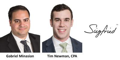 Siegfried congratulates Gabriel Minasian and Tim Newman on becoming Team Leaders.