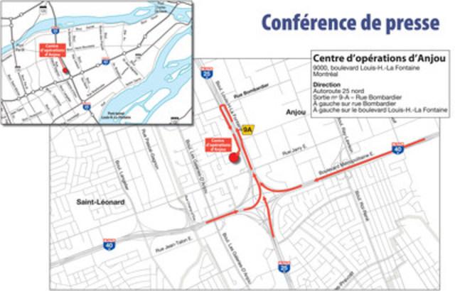Annonce de la programmation des investissements routiers 2017-2019 pour l'ensemble du Québec et pour la région de Montréal (Groupe CNW/Cabinet du ministre des Transports, de la Mobilité durable et de l'Électrification des transports)
