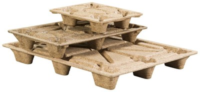 Quarter pallet, half pallet and full 48 x 40 inch molded wood pallets from Litco