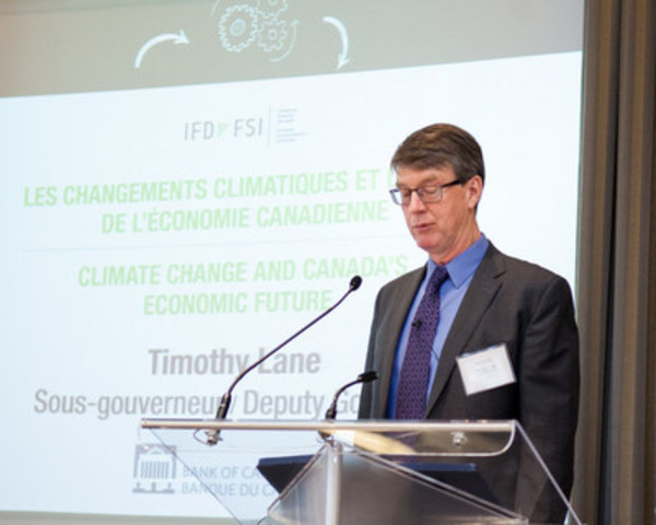 Timothy Lane, Deputy Governor of the Bank of Canada (CNW Group/Initiative pour la finance durable IFD)