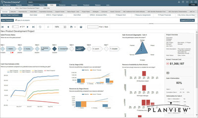 Planview Enterprise, now certified Stage-Gate Ready for Innovation Team Agility, provides an interactive, multi-dimensional perspective into portfolio management scenarios supporting strategic planning, new product development, and portfolio performance.