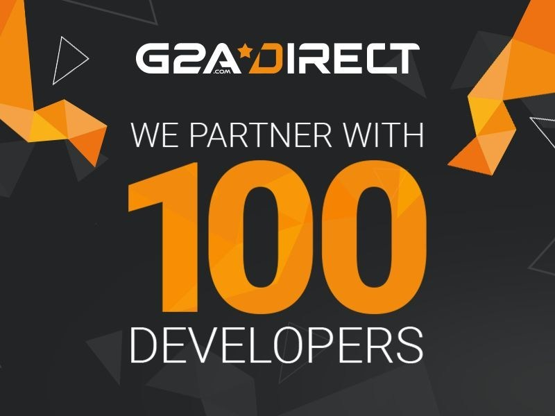 G2A.COM, together with developer and publisher support program G2A Direct, is now partnered with 100 developers and publishers. (PRNewsFoto/G2A.com)