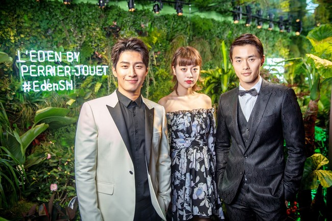 Shawn DOU, Qiuyao CHEN and Lei ZHAO at l'Eden by Perrier-Jouët (PRNewsFoto/Maison Perrier-Jouet)