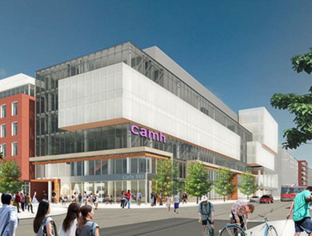 Rendering of CAMH's future Complex Care and Recovery Building (CNW Group/Centre for Addiction and Mental ...