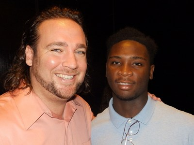 Chad Van Horn (left) was chosen as the State of Florida Big of the Year by Big Brothers Big Sisters of Florida. The Fort Lauderdale attorney is pictured with Desmond, the Little Brother he has mentored for four years through Big Brothers Big Sisters of Broward County. Unanimously chosen from 15,000 mentors statewide, Van Horn is now in contention for the National Big of the Year awarded by Big Brothers Big Sisters of America.