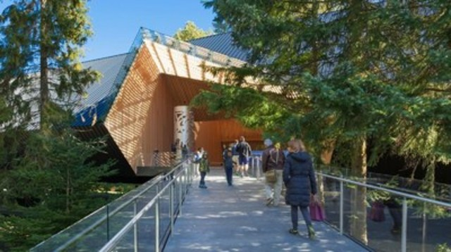 Winner: Institutional Wood Design: Large: Patkau Architects, represented by: Patricia and John Patkau, Vancouver, B.C. – Audain Art Museum, Whistler, B.C. (CNW Group/Canadian Wood Council for Wood WORKS! BC)