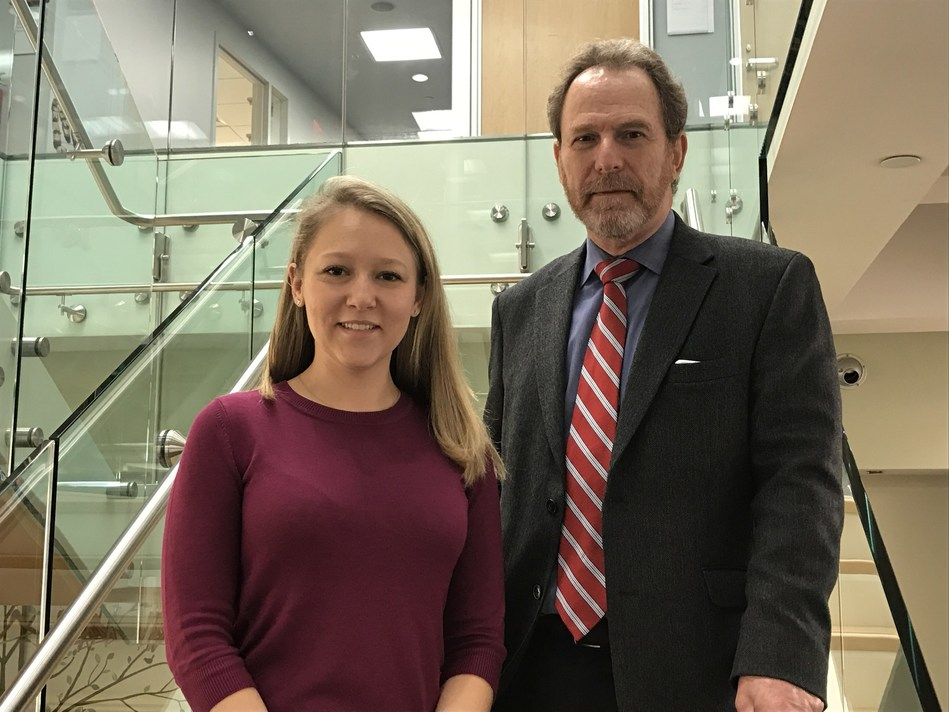 Amanda Spray, PhD, (l.) Assistant Director of the Steven A. Cohen Military Family Clinic (MFC) at NYU Langone, and Adam Wolkin, MD, Associate Chief of Staff for mental health for VANYHHS and Associate Professor and Vice Chair of Psychiatry at NYU Langone.