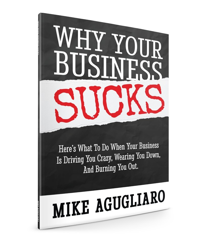 Business mentor and coach Mike Agugliaro's fifth book, Why Your Business Sucks, was written for business owners who feel like they are burning out and need to rethink how to positively change the way they are running their business to achieve maximum profit.