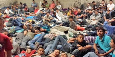 Unaccompanied children seeking asylum in detention center. Most of these children are coming from Honduras, El Salvador, and Guatemala; where the government cannot protect them from gang violence. The psychological evaluation helps demonstrate a 'credible fear' of returning.