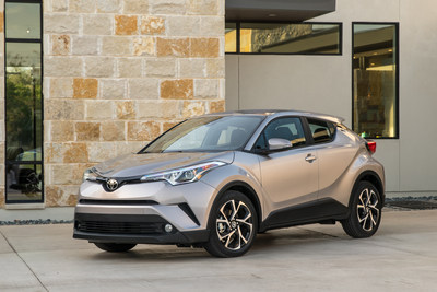 The C-HR is available in two grades, XLE and XLE Premium, each equipped with a long list of standard features that includes 18-inch alloy wheels, dual-zone climate control, bucket seating, and 7-inch audio display.