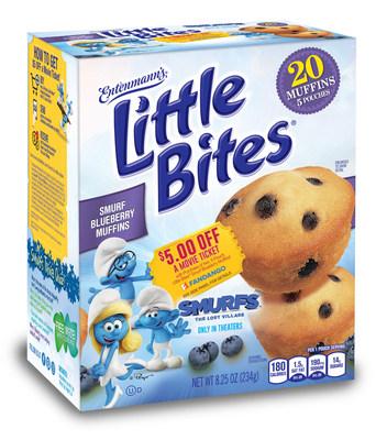 Entenmann's(R) Little Bites(R) Blueberry Smurf-Berry Muffins