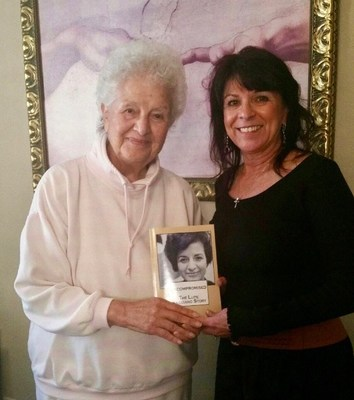 Lupe, now 87, and author Debora Wright