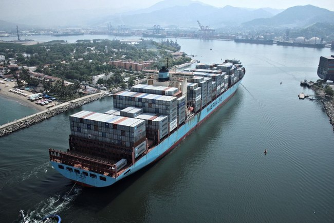 Ninety percent of goods in global trade are carried by the ocean shipping industry each year. A new blockchain solution from IBM and Maersk will help manage and track the paper trail of tens of millions of shipping containers across the world by digitizing the supply chain process. (Photo credit: Maersk)