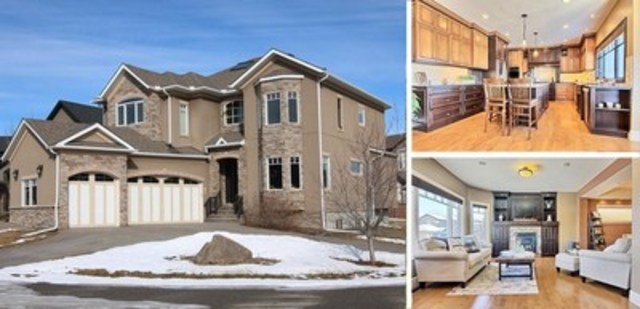 84, point Rockcliff N.-O., à Calgary (Alb.) – 999 900 $, Chambres à coucher : 4, Salles de bain : 4+1, Espace habitable : 3 914 pi(2) (363 m(2)), Taille de lot : 7 944,30 pi(2) (742,6 m(2)) (Groupe CNW/Services immobiliers Royal LePage)
