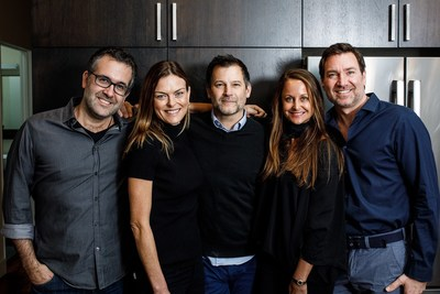 From left: Chad Sarno, Renee Loux, Chris Kerr, Marci Zaroff and Eric Schnell -- leading the New Crop and BeyondBrands partnership