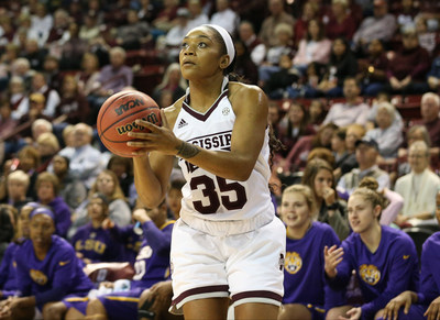 Mississippi State junior guard Victoria Vivians, who has led the Lady Bulldogs to a No.7 national ranking, won the fan voting portion of the 2017 C Spire Gillom Trophy, which annually honors the top female college basketball player in Mississippi.
