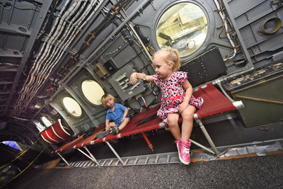 Guests were able to enter, and explore, the open aircraft.