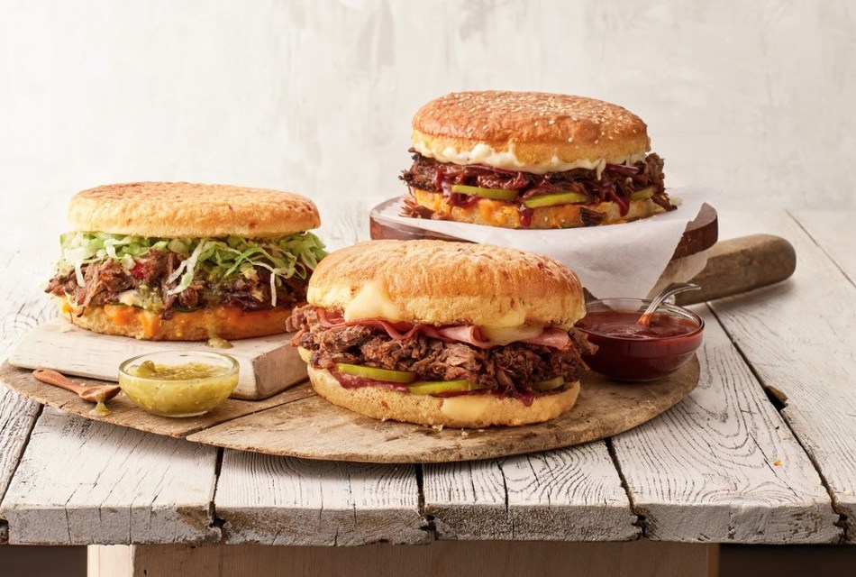 Schlotzsky's three new brisket sandwiches - Traditional, Cuban and Tex-Mex.