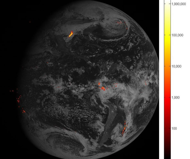 The Geostationary Lightning Mapper, built by Lockheed Martin, now tracks lightning strikes across North and South America, giving new insight into storm development and delivering faster severe weather alerts. (Image courtesy of NOAA)