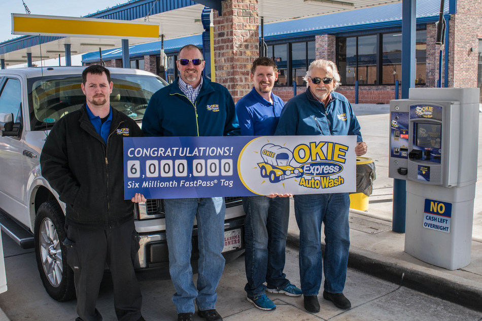 Okie Express Auto Wash.  Pictured:  Mike North, Jared North, Steve Holcomb and Daniel Negahnquet.