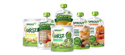 Sprout Foods' new plant-based organic baby and toddler purees and snacks.