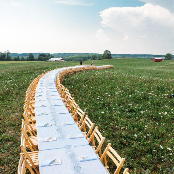 Outstanding in the Field, the traveling table-to-farm dinner series, welcomes guests to farm fields, orchards, ranches and seasides across North America and around the world.