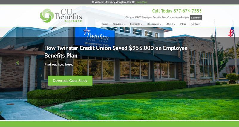 CU Benefits Home Page Website Screenshot