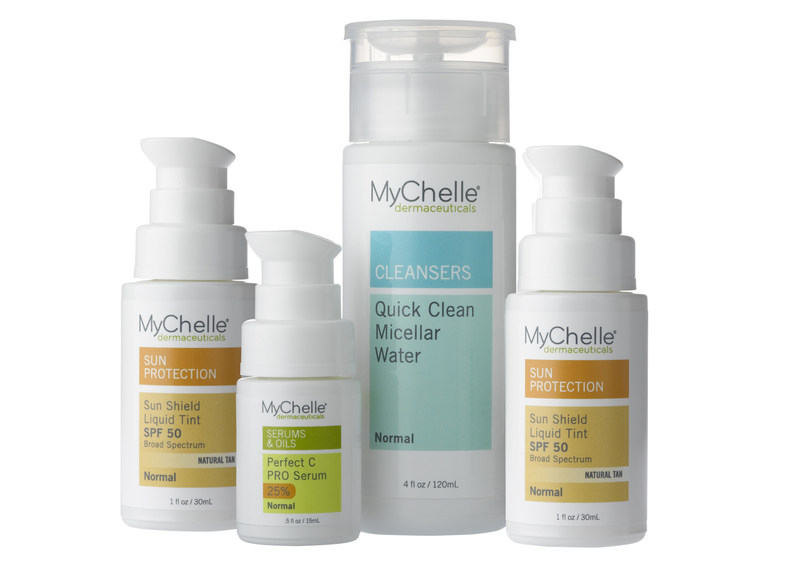 This week, national beauty brand MyChelle Dermaceuticals announces 3 additions to its line of natural, advanced skin and sun care: Perfect C(TM) PRO Serum provides potent antioxidant protection with a professional-level concentration of Vitamin C; Quick Clean Micellar Water removes impurities without stripping skin's defensive moisture barrier; and Sun Shield Liquid Tint SPF 50 delivers daily, 100% mineral-based sun protection.