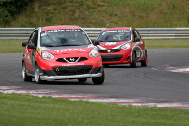 Today at the Quebec City International Auto Show, Nissan announced the 2017 race calendar for the Nissan Micra Cup's third season. (CNW Group/Nissan Canada Inc.)