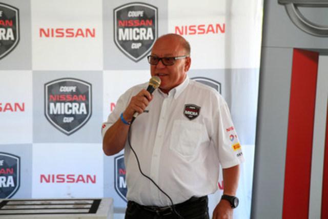 Jacques Deshaies, organisateur et promoteur de la Coupe Nissan Micra (Groupe CNW/Nissan Canada Inc.)