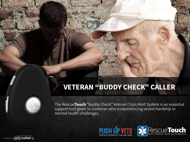 RescueTouch Partners with PushUp Vets to Introduce the First Veteran's Crisis Caller