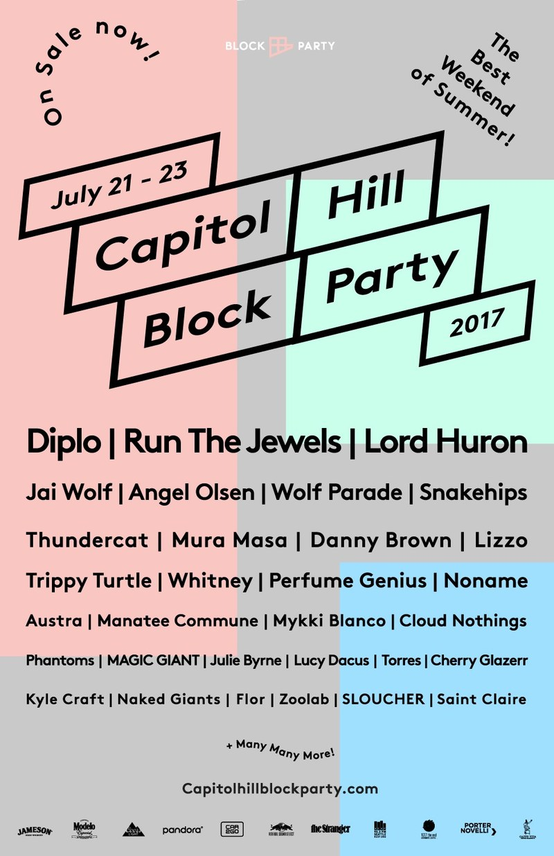 Capitol Hill Block Party Releases Partial Lineup for 2017 Including Headliners Run The Jewels, Diplo and Lord Huron