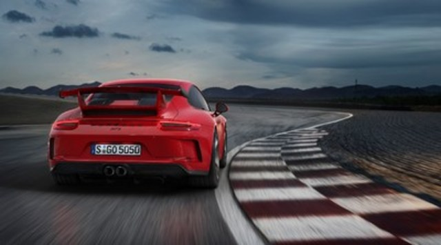 The extremely high-revving naturally aspirated 500 horsepower engine remains virtually unchanged from the thoroughbred 911 GT3 Cup racing car and is able to propel the two-seater from 0 to 100 km/h in 3.4 seconds with a top speed of 318 km/h. Porsche also offers the 911 GT3 with a six-speed sports manual gearbox. (CNW Group/Porsche Cars Canada)
